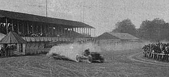 Barney Oldfield sets a one-mile record at Empire City Race Track in Yonkers, N.Y., covering the distance in 55.54 seconds.